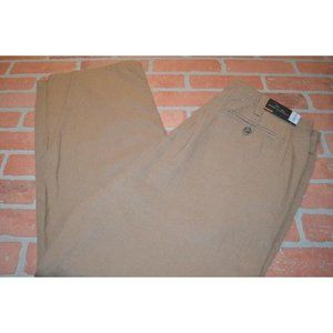 10317 Mens Marc Anthony Linen Pants Brown Size 38